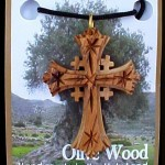 2 inch Olive Wood Jerusalem cross