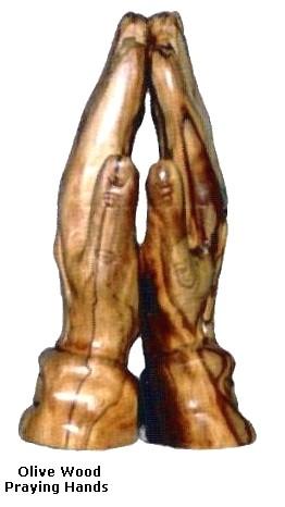 Olive Wood Praying Hands Bethlehem Carving