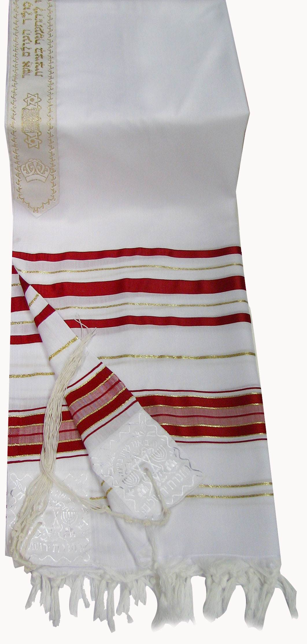 Large Red and Gold Tallit
