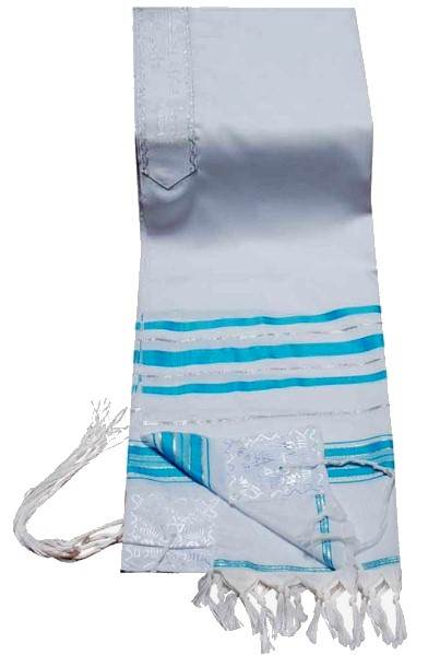 Turquoise and Silver Tallit