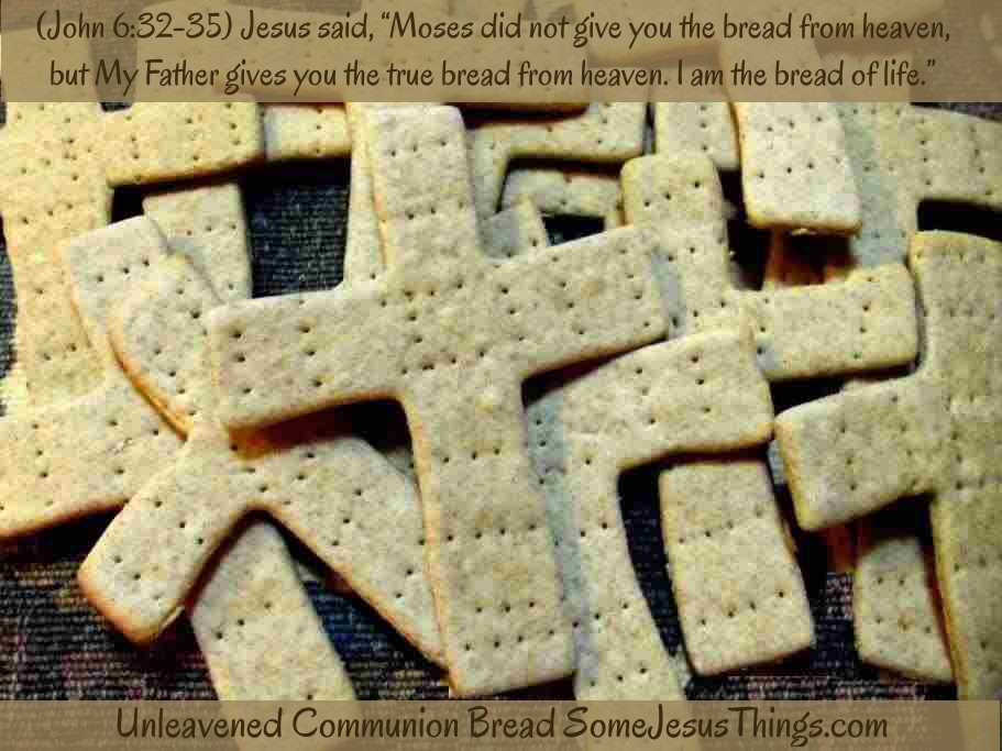 Cross Shaped Communion Bread