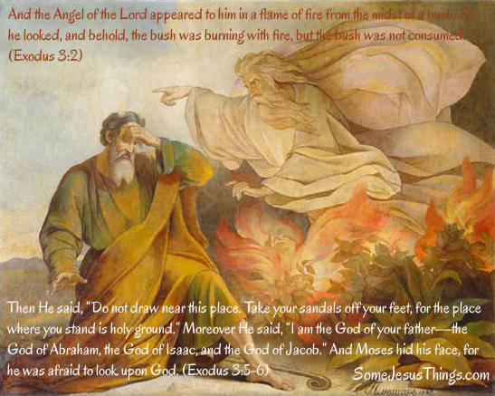 Image result for And Moses hid his face; for he was afraid to look upon God.