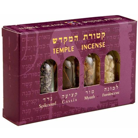 4 Bottles Temple Incense Set
