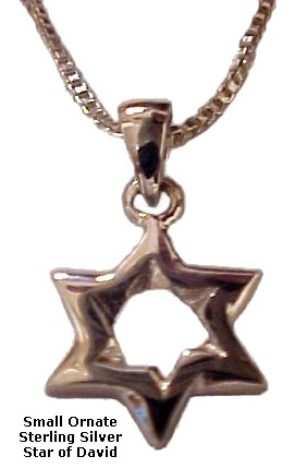 Small Silver Star of David