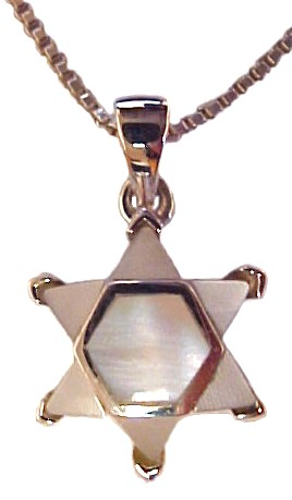 Mother of Pearl Star of David Necklace