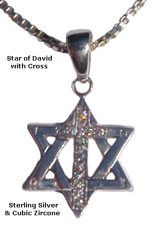 Star of David & Cross with Brilliant CZ