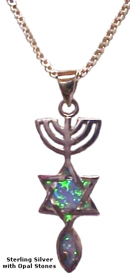Messianic Seal Silver with Opals