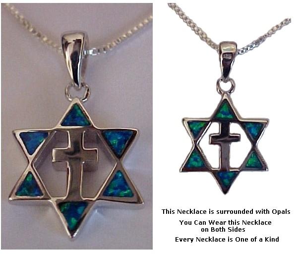Sterling Silver Star & Cross Opals