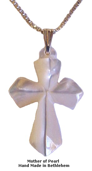 Mother of Pearl Diamond Cross Necklace