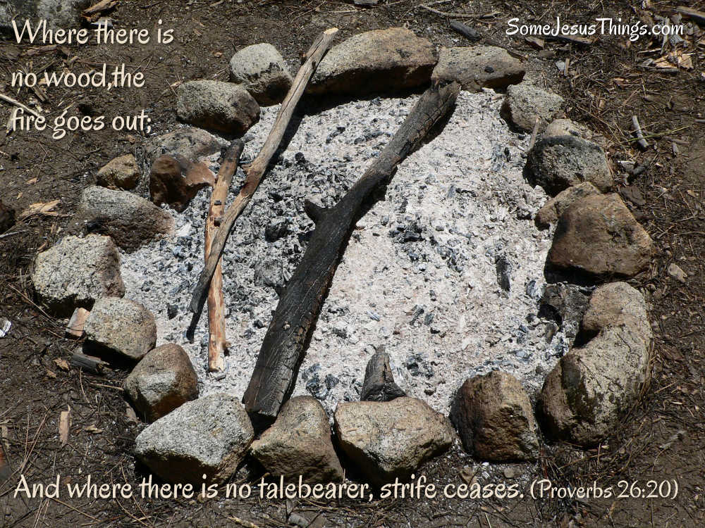 Strife's Campfire Bible verse graphic