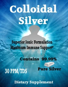Colloidal Silver Front of Label Image